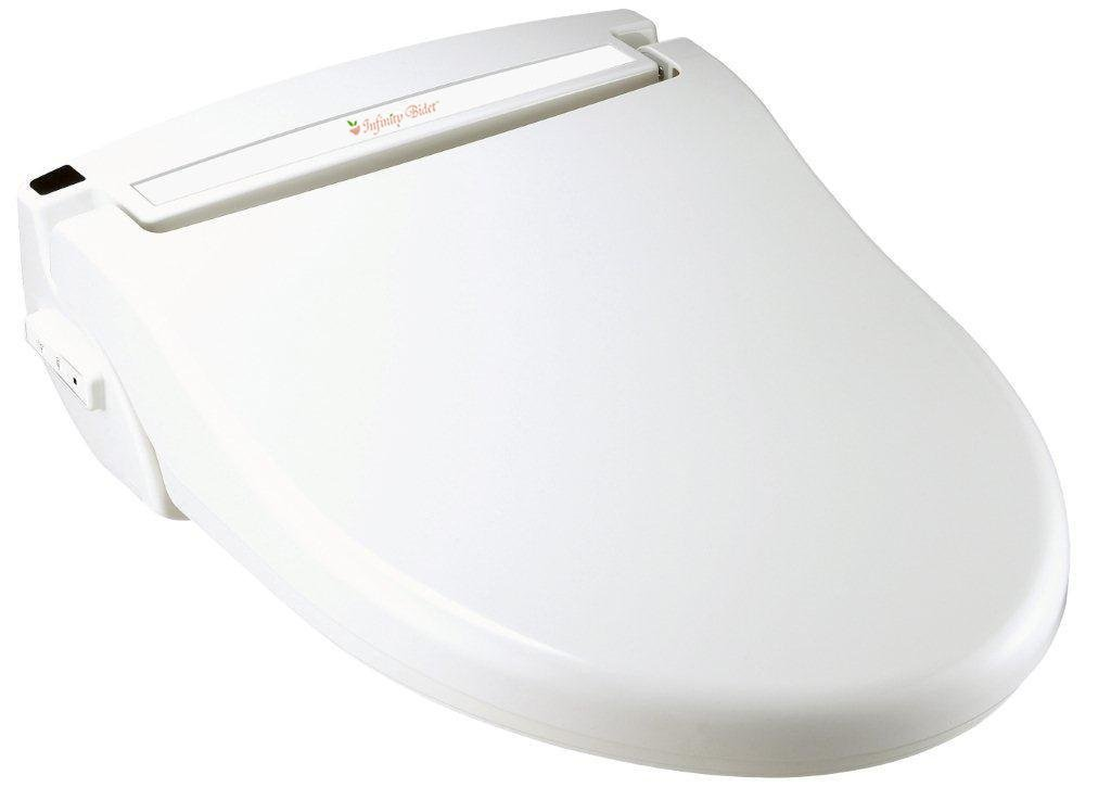 Infinity Bidet Round White XLC-3000-RW Electronic Toilet Seat with Remote Control and Endless Warm Water Wash
