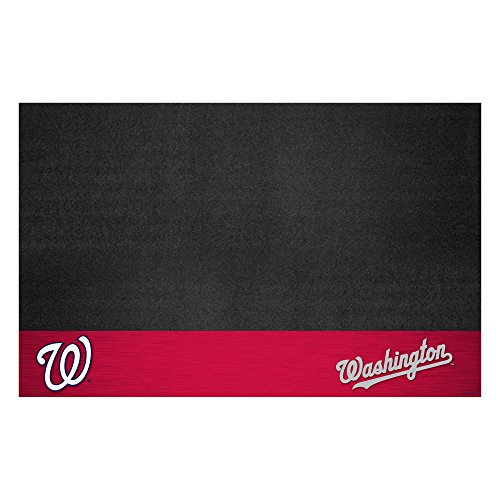 (Fanmats 12173 MLB Washington Nationals Vinyl Grill Mat)