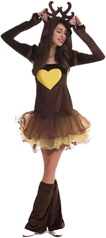 ZXLIFE@@ Disfraz De Alce para Mujer, Disfraz De Reno, para Cosplay ...