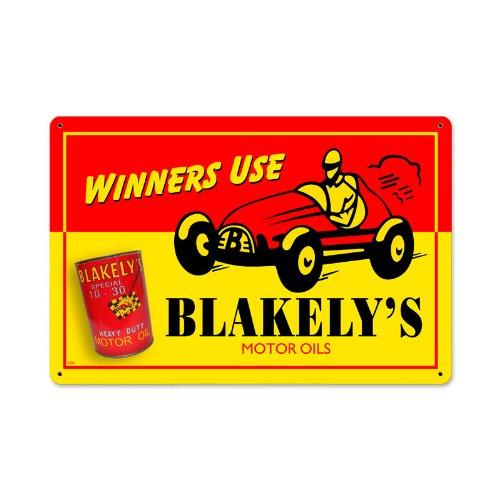 (Blakelys Oil Metal Sign Wall Decor 18 x 12)