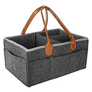 Bebé Pañales Caddy de Almacenamiento Bin Cochecito Organizador Portable Pañal Organizador para Coche Viaje con Baby Shower Cesta de Regalo para Niño niña: ...