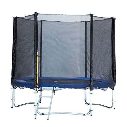 ExacMe 8ft Trampoline w/ Safety Pad and Enclosure Net All-in-one Combo Set by Exacme