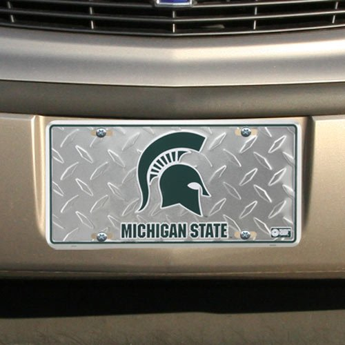 (6x12) Michigan State Spartans Diamond Cut NCAA Tin License Plate]()