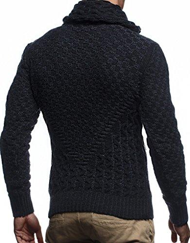 Zipper D'hiver Sweat Schwarz Ln5340 Veste Hommes Pour anthrazit Hoodie Pullover Leif Cardigan Des Nelson Sweatshirt nCqTZT