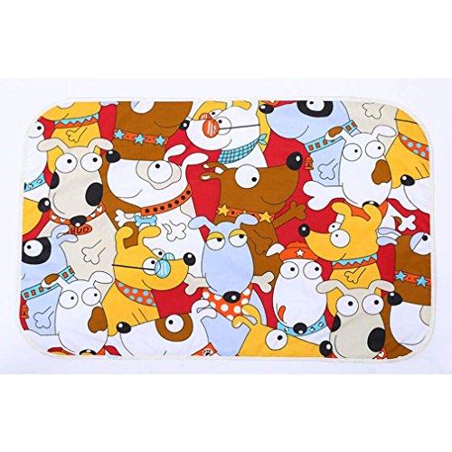 Ikevan Newborn Baby Waterproof Pad 3 Layer Sandwiched Cotton Baby Urine Mat (F) by Ikevan