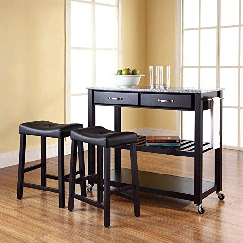 """Crosley Furniture Solid Granite Top Kitchen Cart with 24"""""""