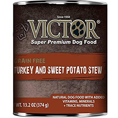 Victor Grain Free Turkey and Sweet Potato Stew Canned Dog Food 13.2oz 12 cans