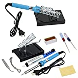 Puuli 9 in1 DIY Electric Soldering Iron Starter Tool Kit Set With Iron Stand Solder Desoldering Pump 60W