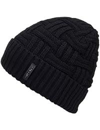 Mens Winter Knitting Wool Warm Hat Daily Slouchy Hats Beanie Skull Cap