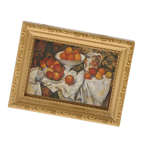 Miniature Art Accessories - Homyl Miniature Dollhouse Framed Wall Painting 1:12 Scale Doll House Accessories -A