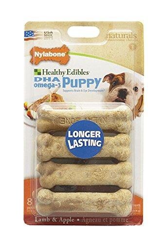 Nylabone Healthy Edibles Petite Lamb and Apple Flavored Puppy Dog Treats