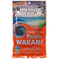 Emerald Cove Silver Grade Wakame (Dried Seaweed), 1.76 Ounce Bag