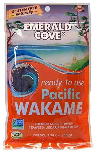 Emerald Cove Silver Grade Wakame (Dried Seaweed), 1.76 Ounce Bag (Wakame Vegetable Sea)