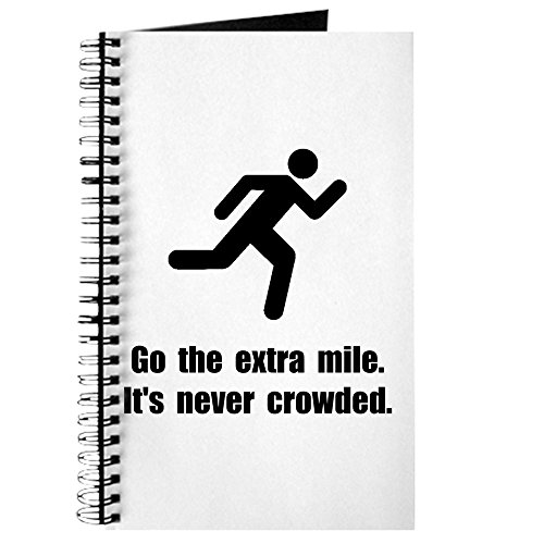 CafePress Go The Extra Mile Spiral Bound Journal Notebook, Personal Diary, Lined