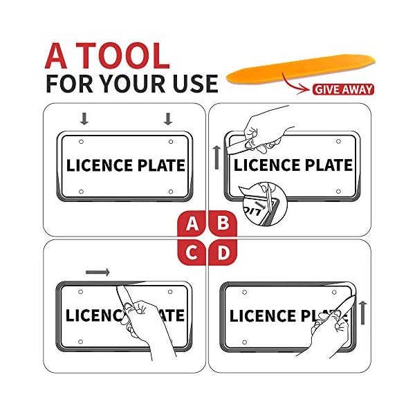 Aujen-Silicone-License-Plate-Frame