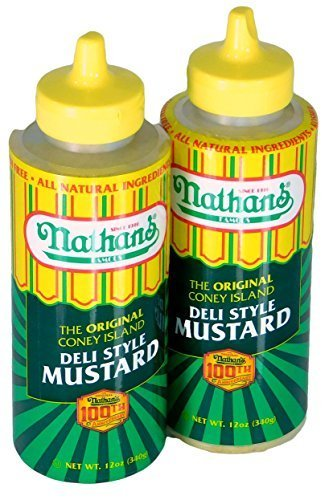 Nathans Famous Original Coney Island 100th Anniversary Deli Style Mustard