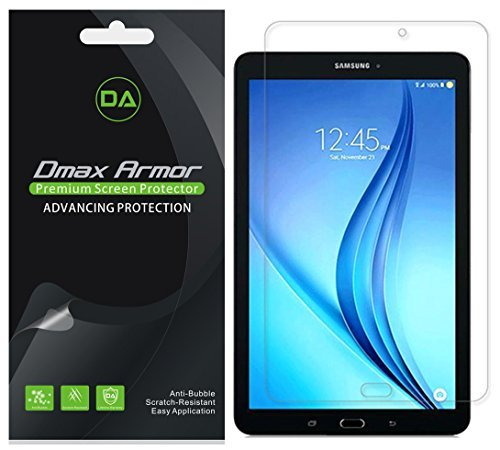 [3-Pack] Dmax Armor Samsung Galaxy Tab E 8.0 inch Screen Protector, Anti-Glare & Anti-Fingerprint (Matte) Shield- Lifetime Replacements Warranty- Retail Packaging