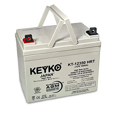 Adjusted Semilor FR-1200 12V 35Ah SLA Sealed Lead Acid Deep Cycle AGM Rechargeable Replacement Battery Genuine KEYKO (W/ L2 Nut & Bolt Terminal)