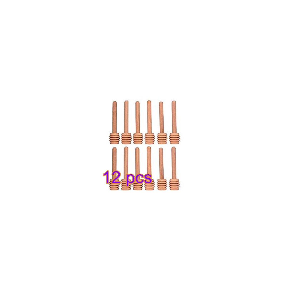 Set of 12 Mini Honey Dipper 3.2 Inch Wood Sticks for Honey Jar Pot Dispense Drizzle Honey Fendii