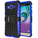 Galaxy J3 Case,Pegoo Shockprooof Impact Resistant Hybrid Heavy Duty Dual Layer Armor Hard Plastic and Soft TPU With a Kickstand bumper Protective Cover Case for Samsung Galaxy J3 2016 (Blue)