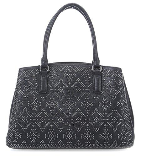 Trussardi Jeans Samantha Ecoleather Studs Handtasche black_black x