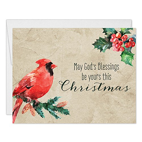 Amazon christmas season greeting cards with envelopes set of christmas season greeting cards with envelopes set of 50 natures peace christian blessings wishes m4hsunfo