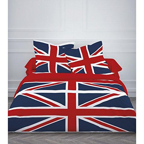 drap housse en anglais Parure de lit 4 pièces • DRAPEAU UK UNION JACK ANGLAIS • Housse de  drap housse en anglais
