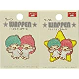 Sew On Patch Motif SANRIO LITTLE TWIN STARS Embroidery Iron P