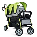 Foundations The Trio Sport Sport Triple Tandem Stroller, Lime