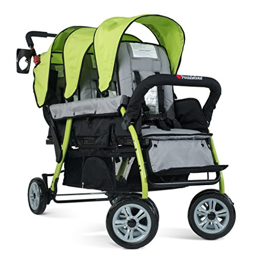 (Foundations The Trio Sport Sport Triple Tandem Stroller, Lime)