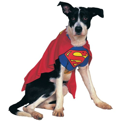 Superman Dog Halloween Costume Pet Size Small 10-12
