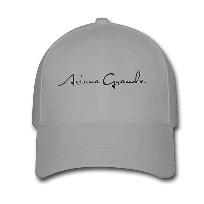 f8de2e7d189 LOU sun Ariana Grande logo Baseball Cap Snapback Hats Adjustable Hat For  adult Gray  Amazon.ca  Clothing   Accessories