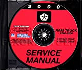 2000 DODGE TRUCK & PICKUP REPAIR SHOP & SERVICE MANUAL For Ram 1500, 2500, and 3500, half ton, three quarter ton, and one ton, 2-wheel drive 4-wheel drive, gasoline and diesel engines.