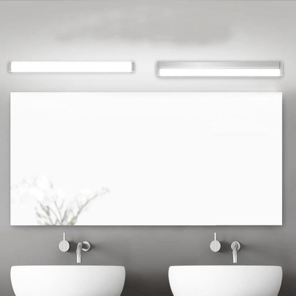 LED Luz de espejo Baño Luz de baño Aluminio Plata Resistente a la humedad Impermeable Moderno Luz de espejo Blanco cálido: Amazon.es: Iluminación