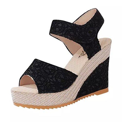 Dony primavera y el verano la mujer con sandalias de tacón estilo pendiente Thirty-seven