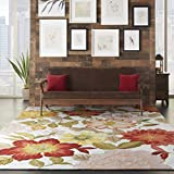 Nourison Fantasy (FA18) Ivory Rectangle Area Rug, 8-Feet by 10-Feet 6-Inches (8' x 10'6')
