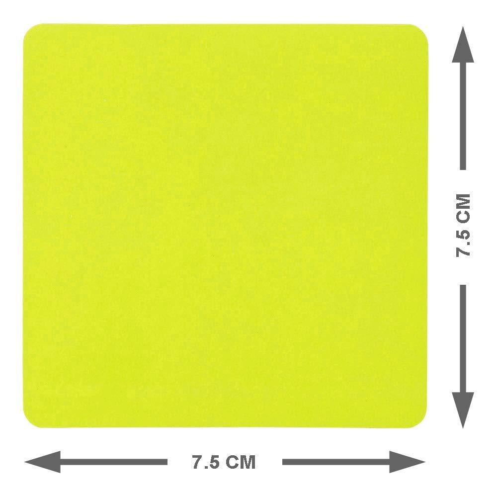 7,5 x 7,5 Centimeter Carte Magneti Riscrivibili Blu 25 Pezzi