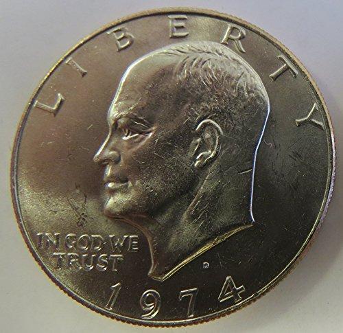 - 1974 D Eisenhower Dollar Choice Uncirculated