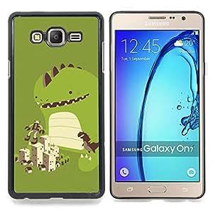 """Qstar Arte & diseño plástico duro Fundas Cover Cubre Hard Case Cover para Samsung Galaxy On7 O7 (Dinosaurio lindo Juego"""")"""