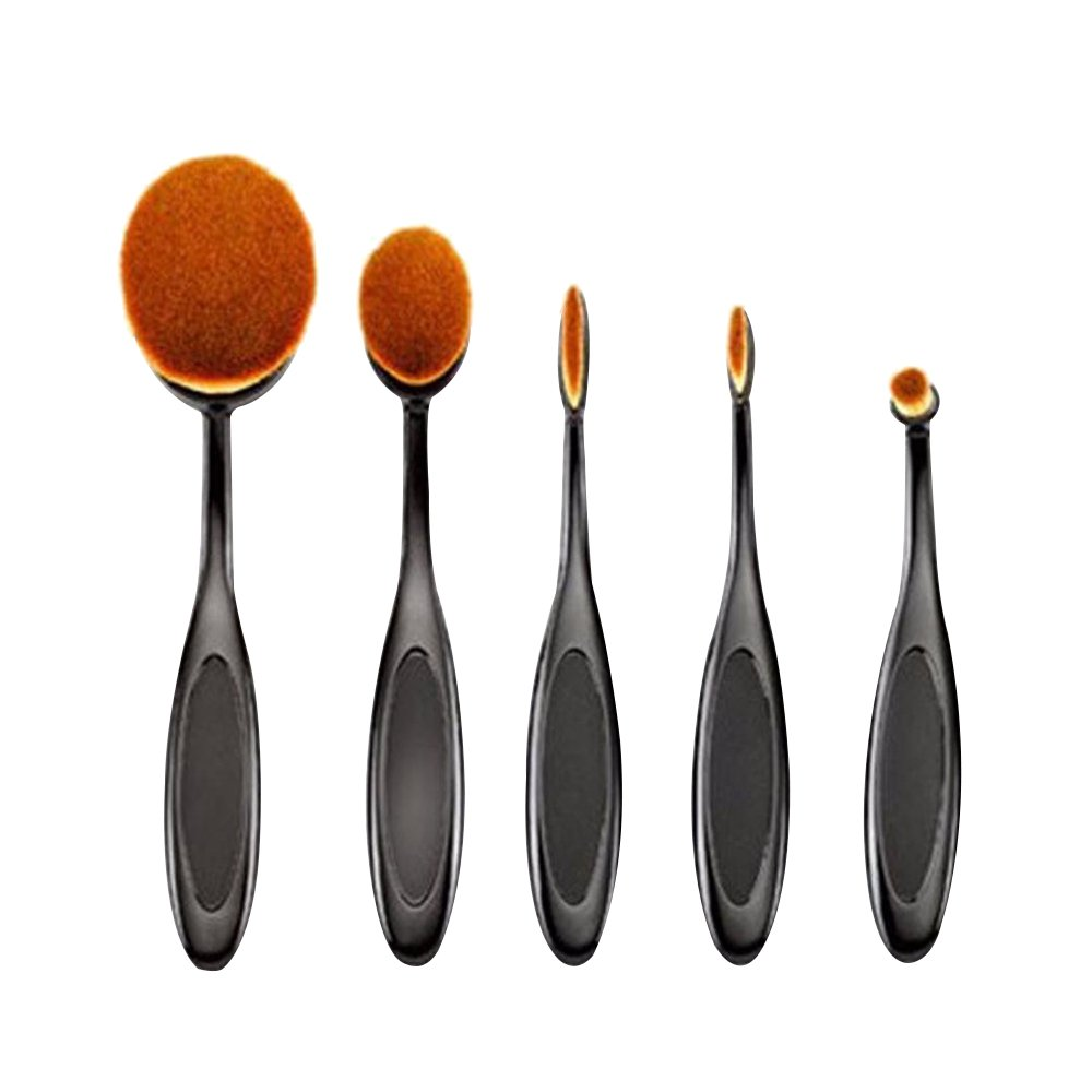 AENMIL Multifunctional Toothbrush-shaped Foundation Brush, 5pcs Makeup Blush for BB Cream Powder, Cosmetic Beauty Tool Fashion Class