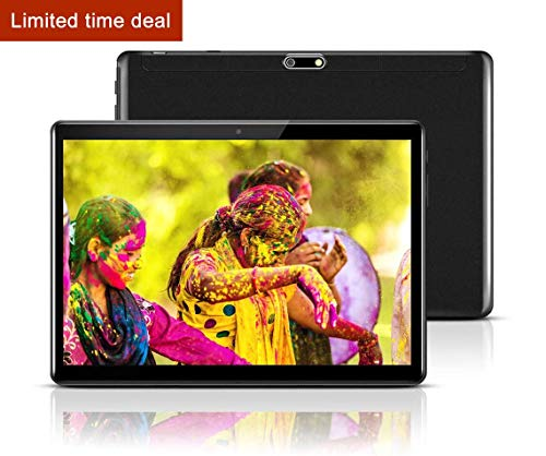 """Android Tablet 10 Inch with Sim Card Slots - 10.1"""" 4GB RAM 64GB ROM Octa Core 3G Unlocked GSM Phone Tablet PC with WiFi Bluetooth GPS Netflix YouTube (Black)"""