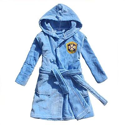 feetoo 2018 boy Bathrobe Cotton Football Team Embroidered Children's Bathrobe Towel Cloth Robe