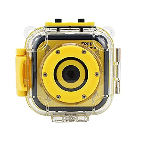 Cikuso Camara de accion HD Video Digital Impermeable para ninos 720 P Deportes 1.77 Pulgadas Camara