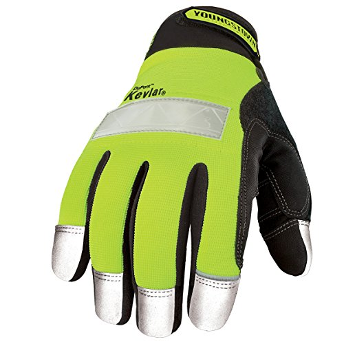 Youngstown Glove 08-3083-10-L Safety Lime Glove Lined with Kevlar Large