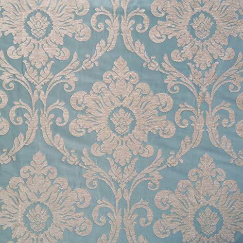 Classic Damask Plain Dye Light Blue Chenille Sofa Headboard Bag Clothing Dress Garment Curtain Home Textile Needlework Sewing Fabrics Width 280 cm Sell by - Sofa Classic Chenille