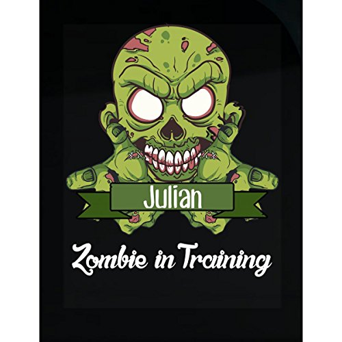 Prints Express Halloween Costume Julian Zombie in Training Funny College Humor Gift - Sticker -