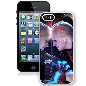 5S case,Devil May Cry Dante Battle Pistol Faces White iPhone 5s cover