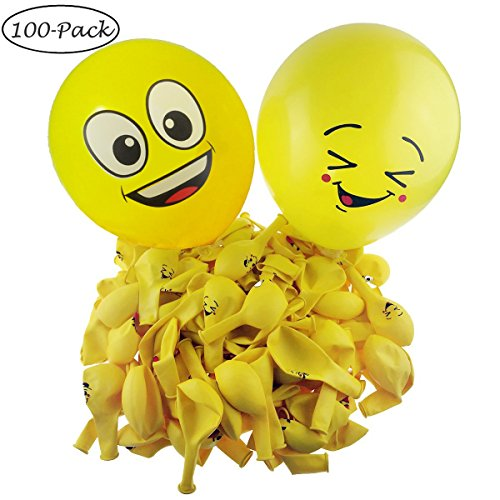 Giftoys Party Supplies 100-Pack Popular Emoji Designs 12