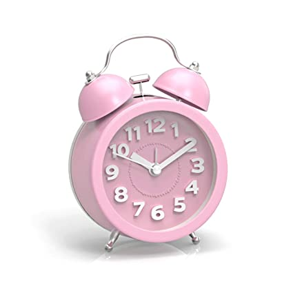 b6621dcfe1af28 PiLife 3 quot  Mini Non-ticking Vintage Classic Analog Alarm Clock with  Backlight