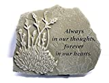 Cheap Kay Berry Always in our Thoughts Forever in Our Hearts; Comfort Gift Sympathy Stone; 8×10 WW; Stand Included